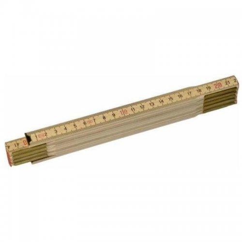 Dřevěný skládací metr s přírodním povrchem 2m Stanley 0-35-455