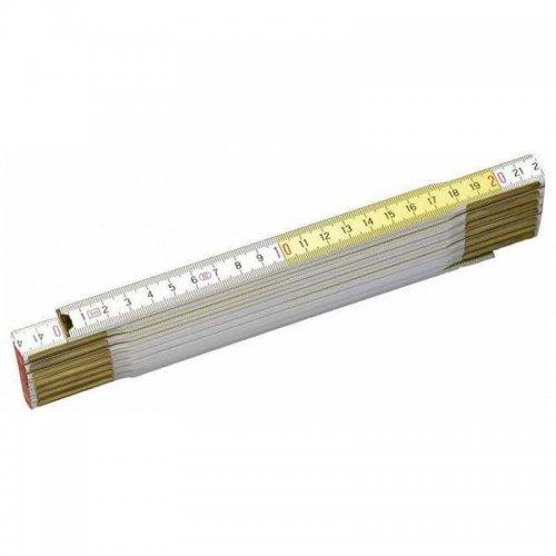 Dřevěný skládací metr bílo-žlutý 2m Stanley 0-35-458