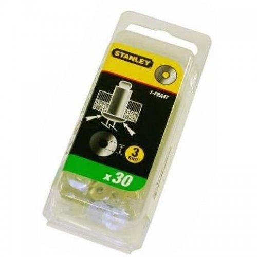 Podložky pro trhací nýty hliníkové 5mm 30ks Stanley 1-PBA6T
