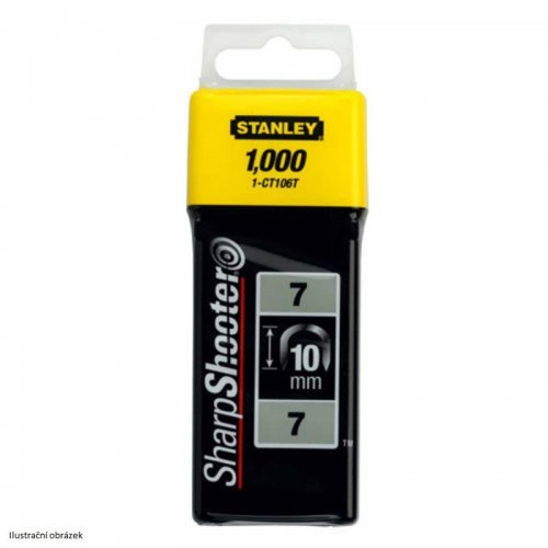 Sponky na kabely TYP 7 CT100, 14mm 1000ks Stanley 1-CT109T