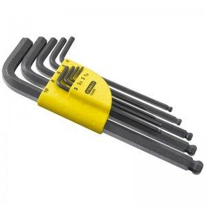 9-ti dílná sada zástrčných klíčů Inbus prodloužených s kuličkou Stanley 1-13-976