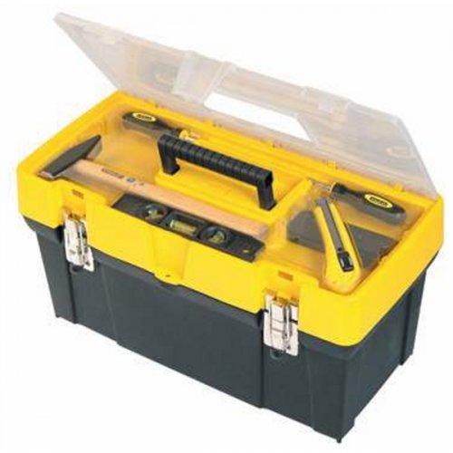 Box na nářadí s průhledným víkem + organizer Stanley 1-93-285