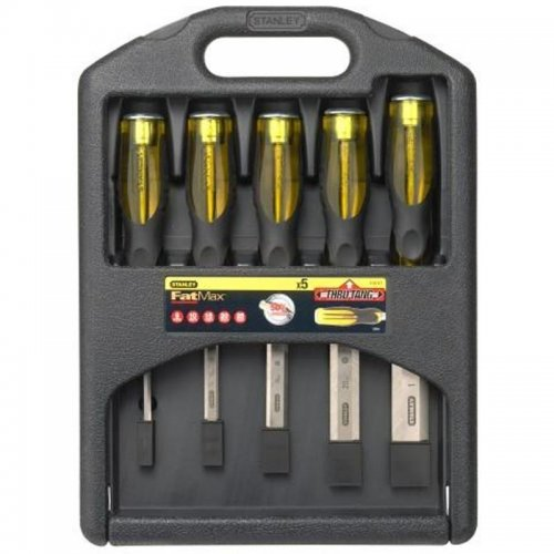 5-ti dílná sada dlát s průběžným dříkem 6, 10, 15, 20 a 25mm Stanley FatMax 2-16-271