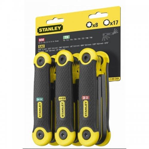 25-ti dílná nožová sada zástrčných klíčů Inbus Stanley 2-69-268