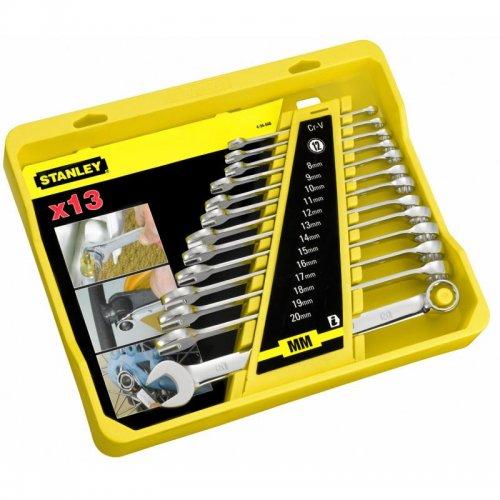 13-ti dílná sada leštěných očkoplochých klíčů Stanley 4-94-648