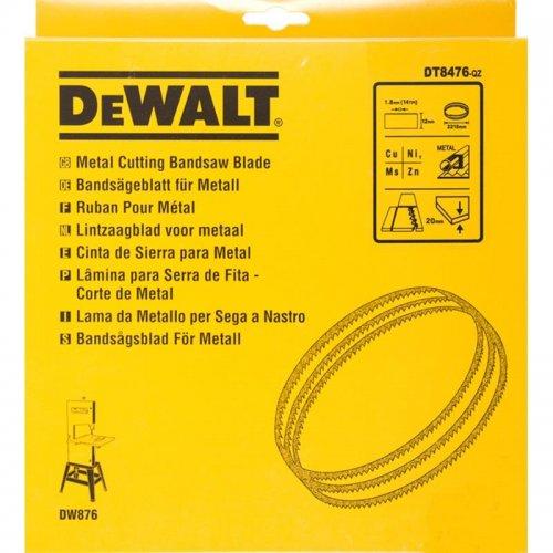 Pilový pás pro DW876 na barevné kovy a plasty přímý řez 12mm DeWALT DT8476