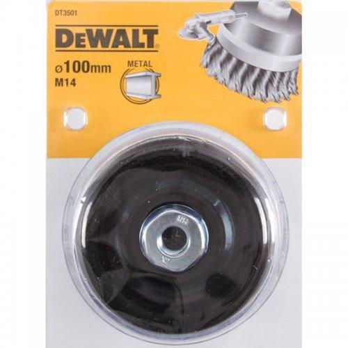 Drátěný kartáč kroucené uzly délka 24mm průměr 100mm pro úhlové brusky DeWALT DT3501