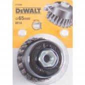 Drátěný kartáč kroucené uzly délka 18mm průměr 65mm pro úhlové brusky DeWALT DT3500