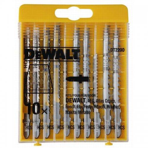 10-ti dílná sada pilových plátků na dřevo pro přímočaré pily DeWALT DT2290