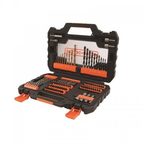 Sada vrtáků, bitů a nástrčných klíčů 104ks Black&Decker A7230
