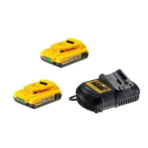 Sada nabíječky a baterií XR Li-Ion 18V 2x2,0 Ah DeWALT DCB115D2