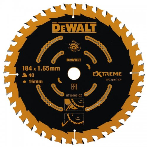 Pilový kotouč 184x16mm 40z ATB +20° DeWALT DT10303