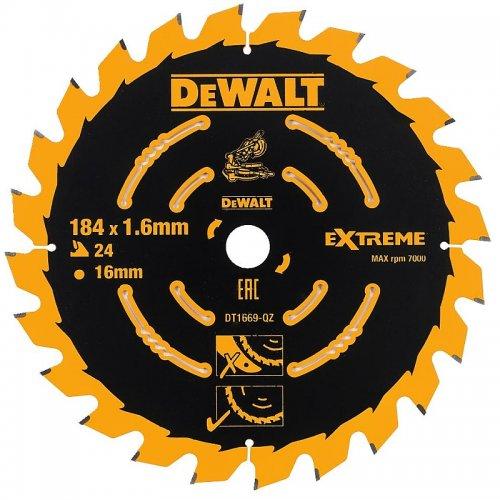 Pilový kotouč 184x16mm 24z ABT +7° DeWALT DT1669