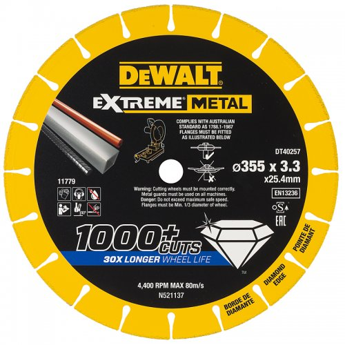 Diamantový kotouč EXTREME METAL 355mm DeWALT DT40257