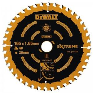 Pilový kotouč 165x20mm, 40 zubů DeWALT FLEXVOLT DT10301