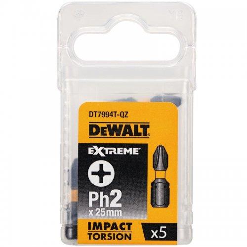 Sada Torsion bitů Ph2x25mm 5ks DeWALT DT7994T