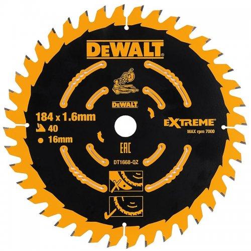 Pilový kotouč 184x16mm 40z ABT +7° DeWALT DT1668