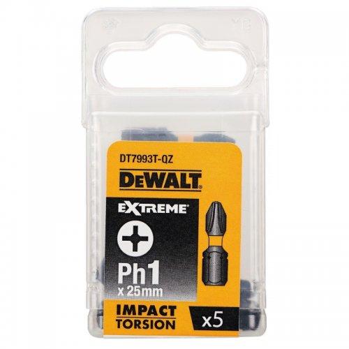 Sada Torsion bitů Ph1x25mm 5ks DeWALT DT7993T