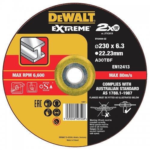 Brusný kotouč 230 x 6,0mm, typ 27 DeWALT DT43949