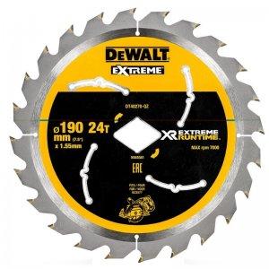 Pilový kotouč 190mm, 24 zubů pro aku pily DeWALT DT40270