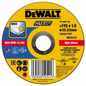Řezný kotouč 115 x 1,0mm, typ 1 DeWALT DT43901