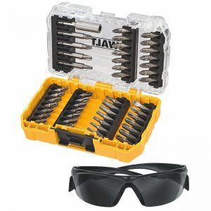 47dílná sada bitů a pracovních brýlí DeWALT DT70703