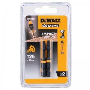 Sada Torsion bitů T25x50mm 2ks DeWALT DT70534T