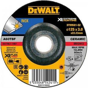 Brusný kotouč na kov vypouklý 115x22,2x3,0mm Typ 27 DeWALT FLEXVOLT DT99581