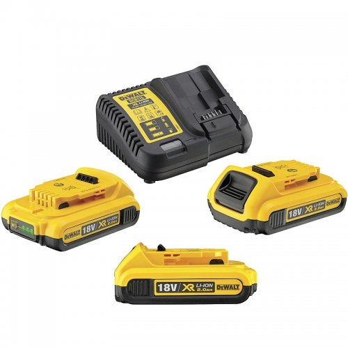 Sada nabíječky a baterií XR Li-Ion 18V 3x2,0 Ah DeWALT DCB115D3