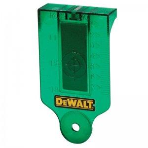 Zaměřovací karta laseru se zeleným paprskem DeWALT DE0730G