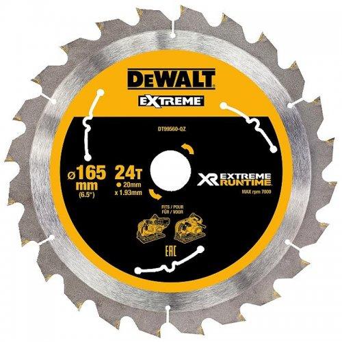 Pilový kotouč 165x20mm, 24 zubů DeWALT FLEXVOLT DT99560