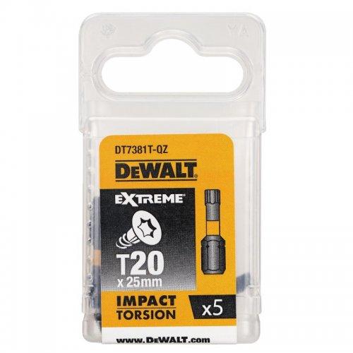 Sada Torsion bitů T20x25mm 5ks DeWALT DT7381T