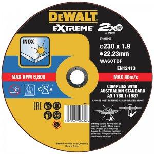 Řezný kotouč 230 x 1,9mm, typ 1 DeWALT DT43939