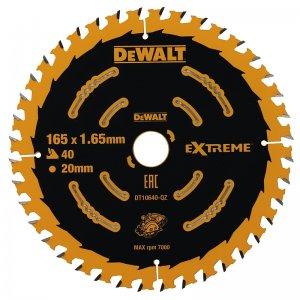 Pilový kotouč 165x20mm, 40 zubů EXTREME pro aku pily DeWALT DT10640