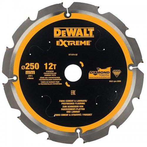 Pilový kotouč pro cementovláknité desky a laminát 250x30mm 12z DeWALT DT1474