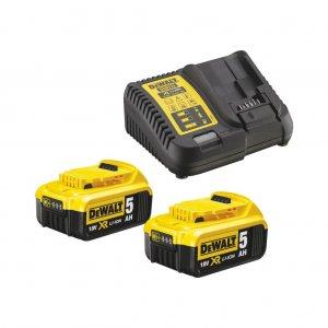 Sada nabíječky a baterií XR Li-Ion 18V 2x5,0 Ah DeWALT DCB115P2