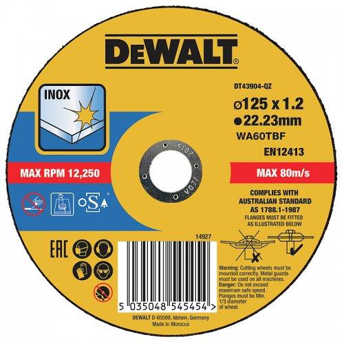 Řezný kotouč 125 x 1,2mm, typ 1 DeWALT DT43904