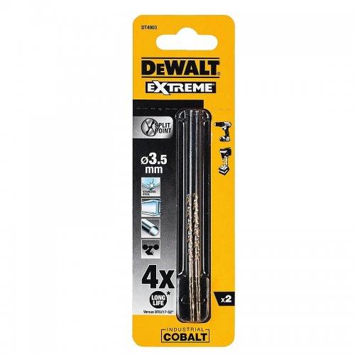 Vrták do kovu HSS-E COBALT 3,5x70mm (2ks) DeWALT DT4903