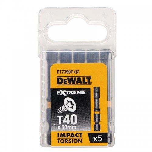 Sada Torsion bitů T40x50mm 5ks DeWALT DT7399T