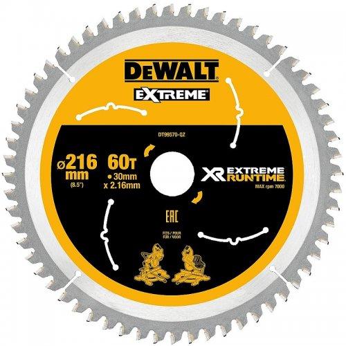 Pilový kotouč 216x30mm 60z DeWALT FLEXVOLT DT99570