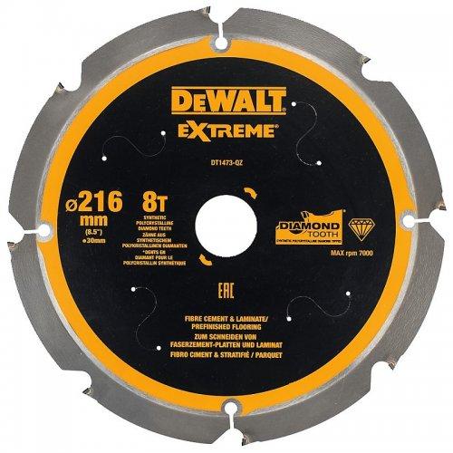 Pilový kotouč pro cementovláknité desky a laminát 216x30mm 8z DeWALT DT1473