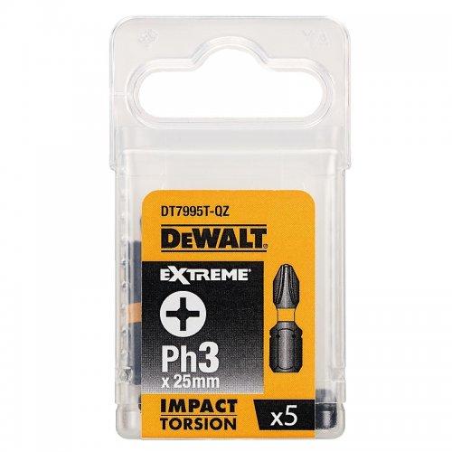 Sada Torsion bitů Ph3x25mm 5ks DeWALT DT7995T