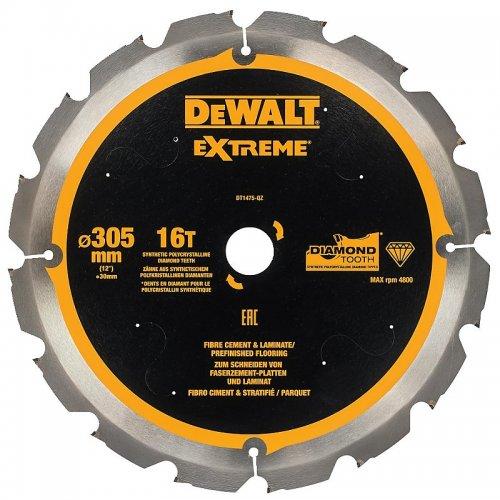 Pilový kotouč pro cementovláknité desky a laminát 305x30mm 16z DeWALT DT1475