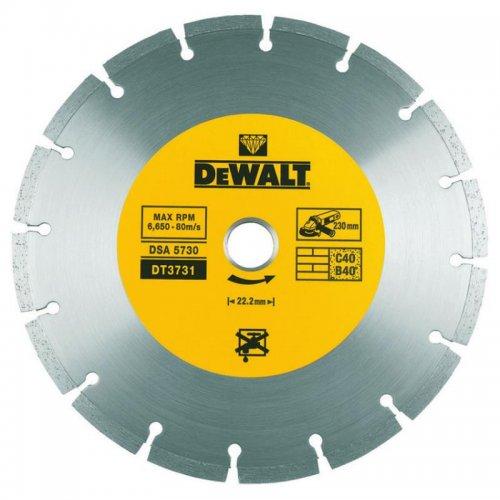Dia kotouč profi ze slinutých karbidů na suché řezání betonu a cihel 230x22,2mm DeWALT DT3731