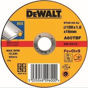 Řezný kotouč na nerez ocel plochý 115x22,2x3,0mm Typ 1 DeWALT DT42242