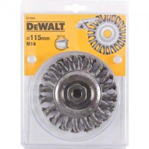 Drátěný kartáč kroucené uzly délka 22mm průměr 115mm pro stolní brusky DeWALT DT3502