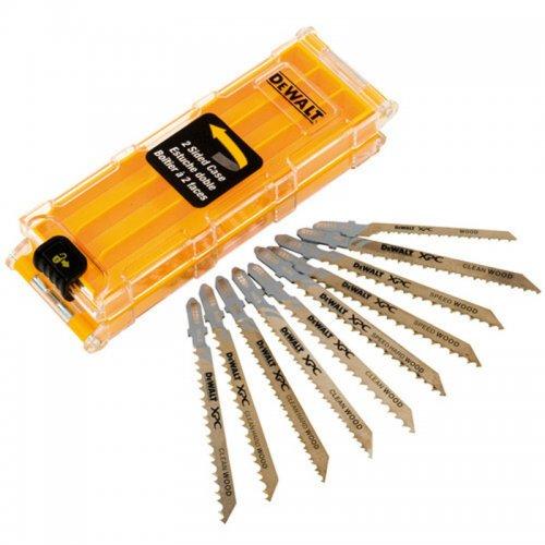 10-ti dílná sada pilových plátků na dřevo pro přímočaré pily DeWALT DT2296