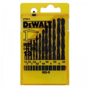 13-ti dílná sada vrtáků do kovu HSS-R DIN 338 DeWALT DT5912