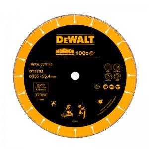 Dia kotouč do rozbrušovačky D28710/D28715 na kov, beton a profily 355x25,4mm DeWALT DT3752