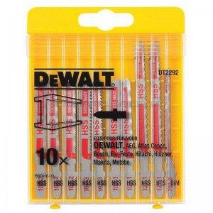 10-ti dílná sada pilových plátků na kov pro přímočaré pily DeWALT DT2292
